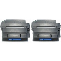 Compatible HP Q6511A (HP 11A) black laser toner cartridge (2 pieces)