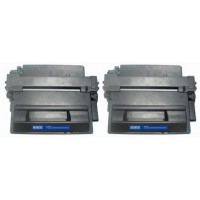 Compatible HP Q6511X (HP 11X) high yield black laser toner cartridge (2 pieces)