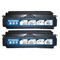 Remanufactured Lexmark Optra E230/E330/E340 series high yield black laser toner cartridges (2 pieces)