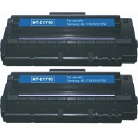 Compatible alternative to Samsung ML1710D3 black laser toner cartridge (2 pieces)