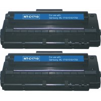 Compatible alternative to Samsung SCX 4100D3 black laser toner cartridge (2 pieces)