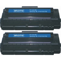 Compatible alternative to Samsung SCX 4216D3 black laser toner cartridge (2 pieces)