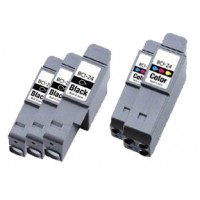 Compatible Canon BCI-21BK black and BCI-21C color ink cartridges 5-piece set (3 BCI-21BK black and 2 BCI-21C color)