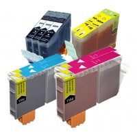 Compatible Canon BCI-3e and BCI-6 ink cartridges 9-piece bulk set (3 BCI-3eBK, 2 BCI-6C, 2 BCI-6M, 2 BCI-6Y)