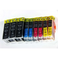 Compatible Canon BCI-3e ink cartridge 4-color multipack (3 black, 2 cyan, 2 magenta, 2 yellow)