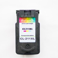 Remanufactured Canon CL-211XLC high capacity color ink cartridge