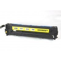 Remanufactured HP CE322A (HP 128A) yellow laser toner cartridge