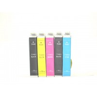 Remanufactured Epson inkjet cartridges (2 T088120 black, 1 T088220 cyan, 1 T088320 magenta and 1 T088420 yellow)