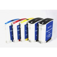 Remanufactured HP ink cartridges - C4844A (No. 10) high capacity black (2 pieces), C4836AN (No. 11) cyan (1 piece), C4837AN (No. 11) magenta (1 piece) and  C4838AN (No. 11) yellow (1 piece)