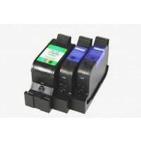 Remanufactured HP ink cartridges - C6615D (No. 15) black ink cartridge (2 pieces) and C1823 (No. 23) color ink cartridge (1 piece)