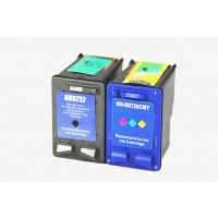 Remanufactured HP C8727AN (No. 27) black ink cartridge (1 piece) and C8728AN (No. 28) color ink cartridge (1 piece)