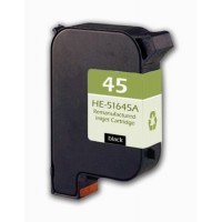Remanufactured HP 51645A (No. 45) black ink cartridge