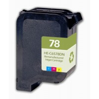 Remanufactured HP C6578D (No. 78) color ink cartridge