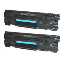 Compatible HP CE278A (HP 78A) black laser toner cartridge (2 pieces)