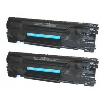 Compatible HP CE285A (HP 85A) black laser toner cartridge (2 pieces)
