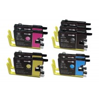 Compatible Brother LC79BK, LC79C, LC79M, LC79Y extra high yield ink cartridges (3 black, 2 cyan, 2 magenta, 2 yellow) value pack