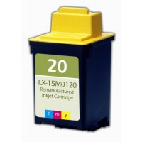 Remanufactured Lexmark 15M0120 (No. 20) color ink cartridge
