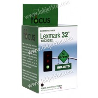 Remanufactured Lexmark 18C0032 (No. 32) standard black ink cartridge