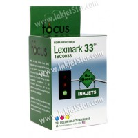 Remanufactured Lexmark 18C0033 (No. 33) standard color ink cartridge