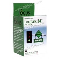 Remanufactured Lexmark 18C0034 (No. 34) high yield black ink cartridge