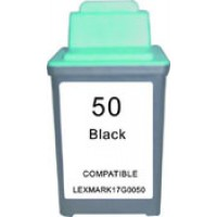 Remanufactured Lexmark 17G0050 (No. 50) black ink cartridge