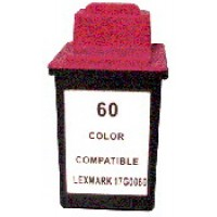 Remanufactured Lexmark 17G0060 (No. 60) color ink cartridge