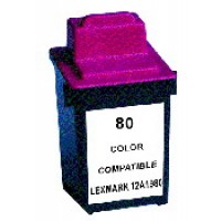 Remanufactured Lexmark 12A1980 (No. 80) color ink cartridge