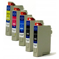 Remanufactured Epson inkjet cartridges (2 T200XL120 black, 1 T200XL220 cyan, 1 T200XL320 magenta and 1 T200XL420 yellow)