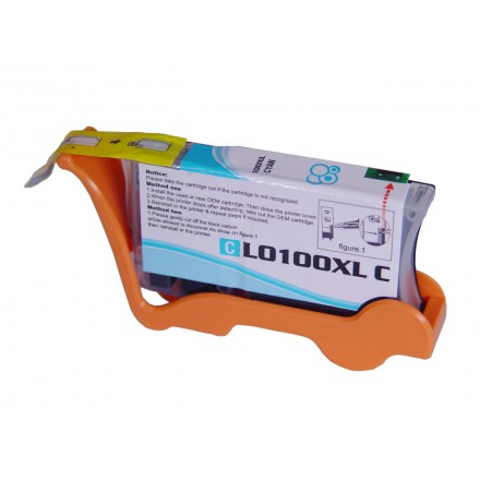 Compatible Lexmark 14N1069 (No. 100XL) high yield cyan ink cartridge