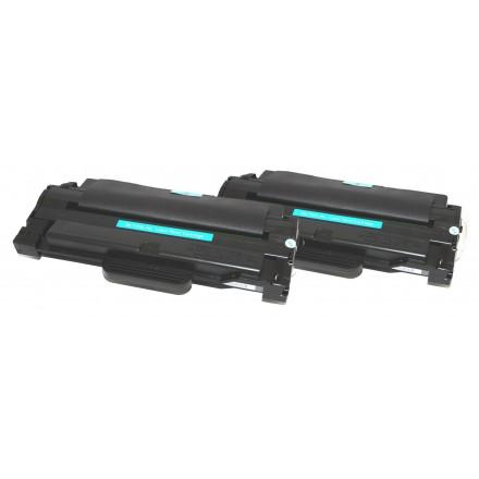 Compatible alternative to Samsung MLT-D105L black laser toner cartridge (2 pieces)