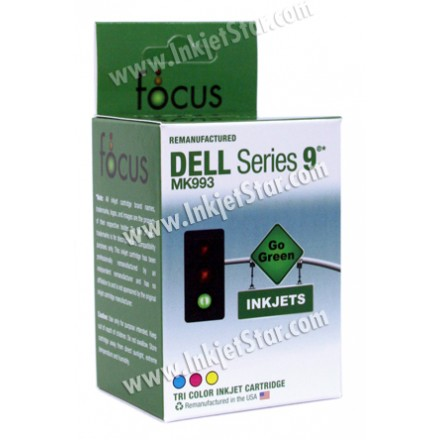 Remanufactured Dell MW175 (Series 9) high capacity color ink cartridge