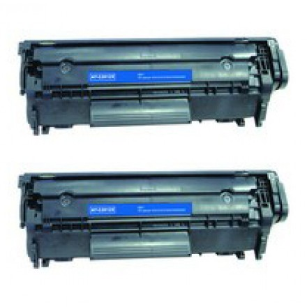 Compatible HP Q2612X (HP 12X) high yield black laser toner cartridge (2 pieces)