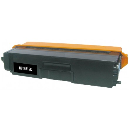 Compatible Brother TN315BK high yield (replacing TN310BK standard yield) black laser toner cartridge