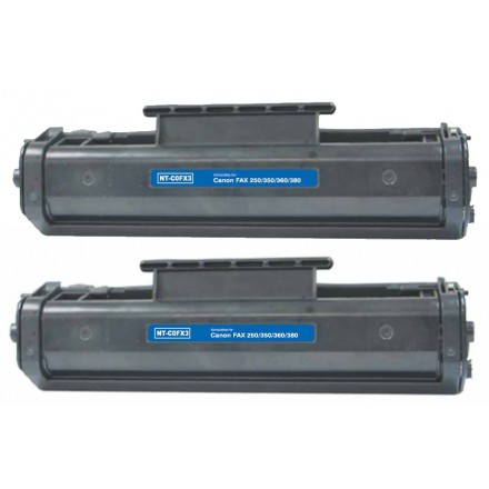 Remanufactured Canon FX3 black laser toner cartridge - 2 pieces