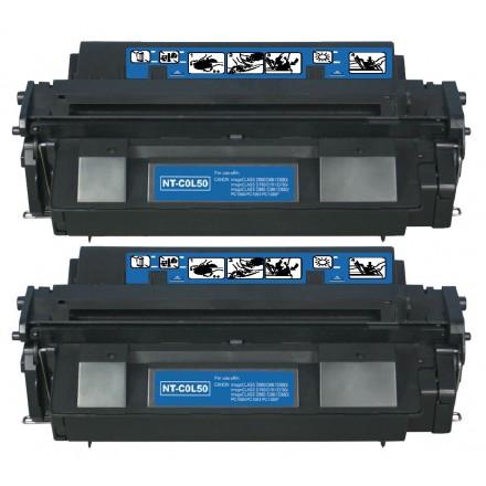 Remanufactured Canon L50 black laser toner cartridge - 2 pieces