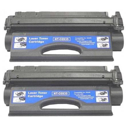 Remanufactured Canon S35 black laser toner cartridge - 2 pieces
