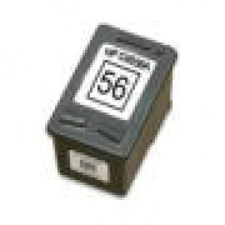 Remanufactured HP C6656 (No. 56) black ink cartridge