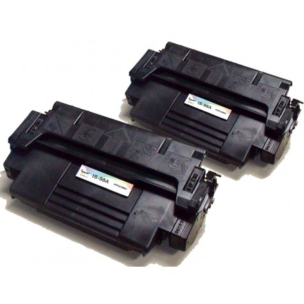Remanufactured HP 92298A (HP 98A) black laser toner cartridge (2 pieces)