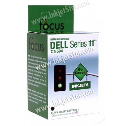 Remanufactured Dell CN594 (Series 11) high capacity black ink cartridge