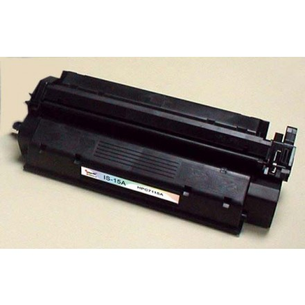 Remanufactured HP C7115A (HP 15A) black laser toner cartridge