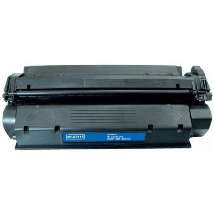 Remanufactured HP C7115X (HP 15X) high yield black laser toner cartridge