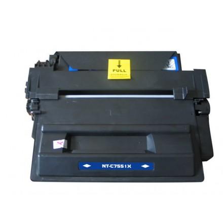 Compatible HP Q7551X (HP 51X) high yield black laser toner cartridge