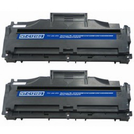 Remanufactured Lexmark Optra E210 series black laser toner cartridge (2 pieces)