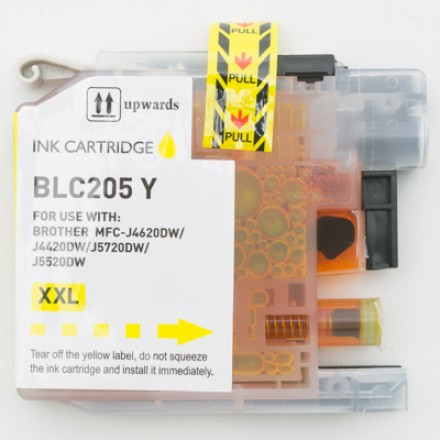 Compatible Brother LC205Y Super High Yield Yellow ink cartridge