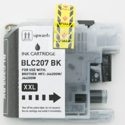 Compatible Brother LC207BK Super High Yield Black ink cartridge