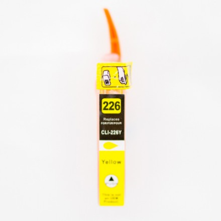 Compatible Canon CLI-226 yellow ink cartridge with chip