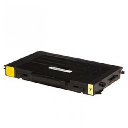 Remanufactured alternative to Samsung CLP-510D5Y yellow laser toner cartridge
