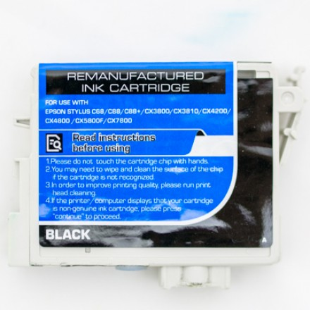 Remanufactured Epson T060120 black ink cartridge