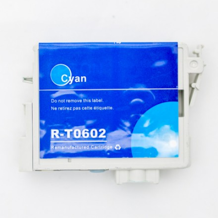 Remanufactured Epson T060220 cyan ink cartridge