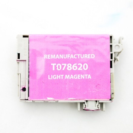 Remanufactured Epson T078620 light magenta ink cartridge